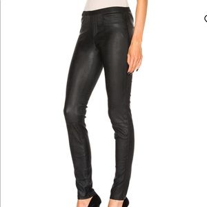 Helmet Lang Lambskin leather legging